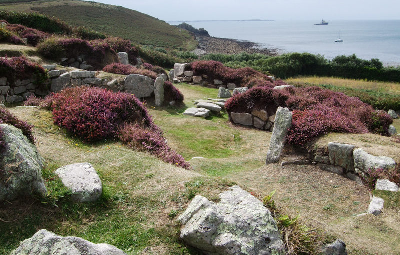 Abandoned prehistoric village at Halangy Down, St Mary's.