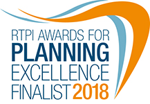 RTPI 2018 Awards Finalist Badge