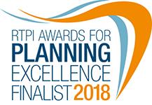 RTPI 2018 Awards Finalist Badge